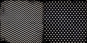 Licorice Chevron 12x12 Patterned Cardstock