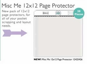Misc Me 12x12 Page Protector