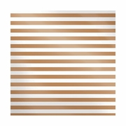 Sheer Metallic - Copper Stripe
