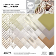 Sheer Metallic 12x12 Paper Pad