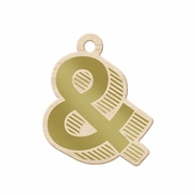 Sheer Metallic - Wood Tag - Ampersand