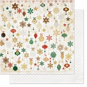 Silver and Gold & Ornaments Paper *