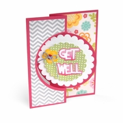 Sizzix� Framelits Die Set 21PK - Card, Circle Flip-its #4
