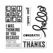 Sizzix� Framelits� Die Set 6PK w/Stamps - Casual Greetings by KI Memories� for Hampton Art�