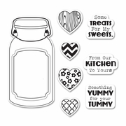 Sizzix� Framelits� Die Set 6PK w/Stamps - Jar of Treats by Jillibean Soup�