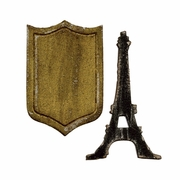 Sizzix Movers & Shapers Magnetic Die Set 2PK - Mini Eiffel Tower & Shield