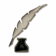Sizzix Movers & Shapers Magnetic Die Set 2PK - Mini Feather & Inkwell