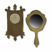 Sizzix Movers & Shapers Magnetic Die Set 2PK - Mini Mirror & Wall Clock