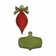 Sizzix� Movers & Shapers Magnetic Die Set 2PK - Mini Retro Ornaments
