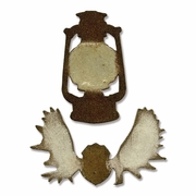Sizzix Movers & Shapers Magnetic Dies 2PK - Lantern & Antlers by Tim Holtz