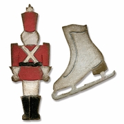 Sizzix Movers & Shapers Magnetic Dies 2PK - Toy Soldier & Ice Skate by Tim Holtz