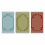 Sizzix� Texture Trades� Embossing Folders 3PK - Outline Labels Set by Tim Holtz�