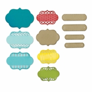 Sizzix� Thinlits� Die Set 12PK - Ornate Labels by Lori Whitlock