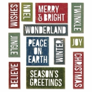 Sizzix� Thinlits Dies 17 Pk - Block Holiday Words