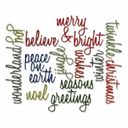 Sizzix� Thinlits Dies 17PK - Holiday Script Words