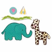 Sizzix Thinlits Dies - Elephant & Giraffe Set
