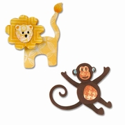 Sizzix Thinlits Dies - Lion & Monkey Set