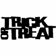 Trick or Treat Red Rubber Stamp