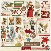 Vintage Christmas 12x12 Sticker Accessories