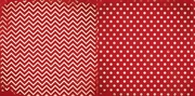 Wild Berry Chevron 12x12 Patterned Cardstock