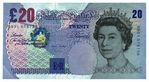 20 Pound Note Mini Die Cut