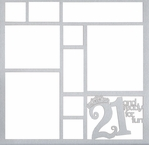 21 And Ready For Fun 12 x 12 Overlay Laser Die Cut