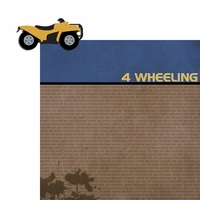 4 wheeling: 4 Wheeling 2 Piece Laser Die Cut Kit