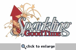 4th of July: Sparkling Good Time Laser Die Cut