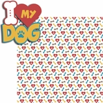 A Dog's Life: I Heart My Dog 2 Piece Laser Die Cut Kit