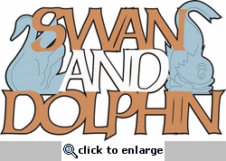 A Magical Stay: Swan and Dolphin Laser Die Cut