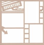 Adventure Time 12 x 12 Overlay Laser Die Cut
