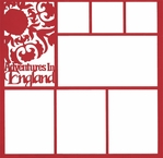 Adventures In England 12 x 12 Overlay Laser Die Cut