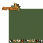 Africa: Africa 2 Piece Laser Die Cut Kit
