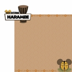 Africa: Harambe 2 Piece Laser Die Cut Kit