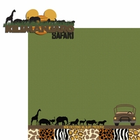 Africa: Safari 2 Piece Laser Die Cut Kit