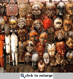Africa: Tribal Masks 12 x 12 Paper