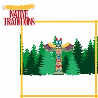 Alaskan Cruise: Native Traditions 2 Piece Laser Die Cut Kit