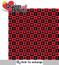 Alice In Wonderland: Queen of Hearts 2 Piece Laser Die Cut Kit