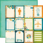 All About A Boy: 3 x 4 Journaling Cards on 12 x 12 Double Sided Paper
