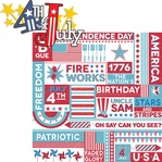 All American: 4th Of July 2 Piece Laser Die Cut Kit