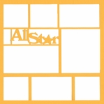 All Star 12 x 12 Overlay Laser Die Cut