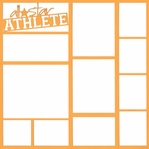 All Star Athlete 12 x 12 Overlay Laser Die Cut