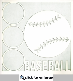 All Star: Baseball 12 x 12 Overlay Laser Die Cut