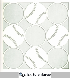 All Star: Baseball Circles 12 x 12 Overlay Laser Die Cut