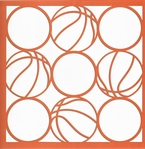 All Star: Basketball Circles 12 x 12 Overlay Laser Die Cut