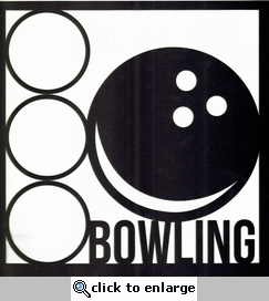 All Star: Bowling 12 x 12 Overlay Laser Die Cut