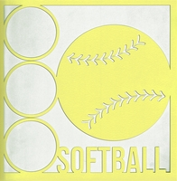 All Star: Softball 12 x 12 Overlay Laser Die Cut