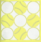 All Star: Softball Circles 12 x 12 Overlay Laser Die Cut