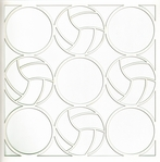 All Star: Volleyball Circles 12 x 12 Overlay Laser Die Cut