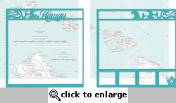 Aloha: Hawaii Double 12 x 12 Overlay Quick Page Laser Die Cut